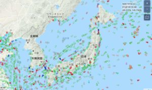 MarineTraffic日本近海