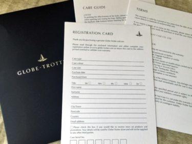 海外から個人輸入したグローブトロッターの保有者登録をしてみた