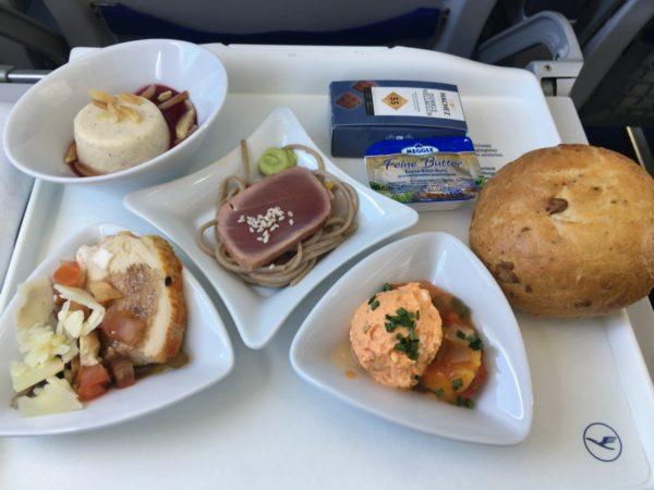 ルフトハンザドイツ航空ビジネスクラスの機内食